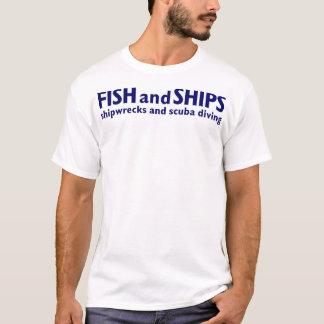 Fish And Ships  T-Shirt