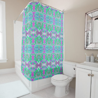 Fish and Whale Tails Art Shower Curtain