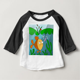 Fish and worm baby T-Shirt
