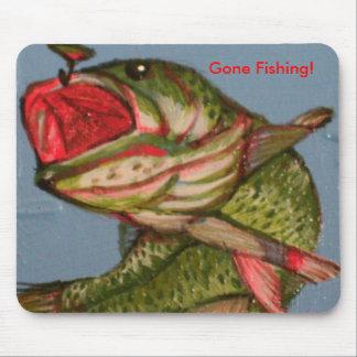 Fish art 056, Gone Fishing! Mouse Pad