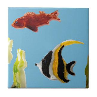 Fish Art swimming in the sea Tile