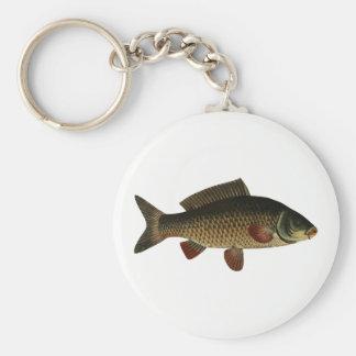Fish Basic Round Button Keychain