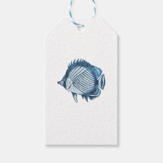 Fish beach nautical coastal ocean sea blue gift tags