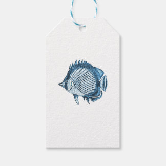 Fish beach nautical ocean coastal sea blue pack of gift tags