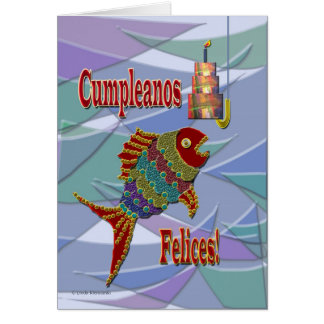 Fish Birthday Spanish/Mexican/Latino Card