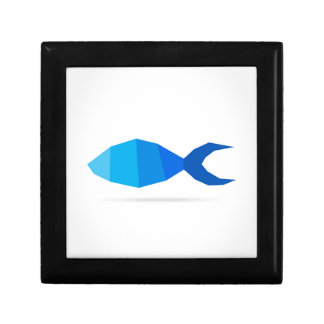 Fish blue gift box