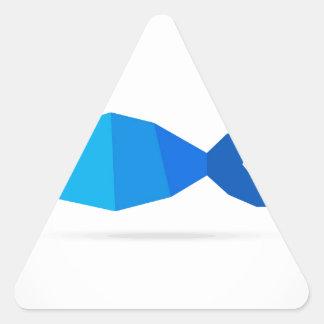Fish blue triangle sticker