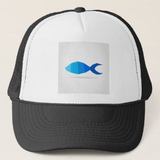 Fish blue trucker hat
