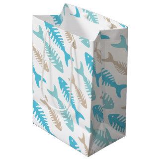 Fish Bone Medium Gift Bag
