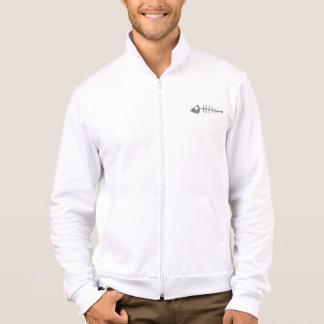fish bone zip jogger jacket