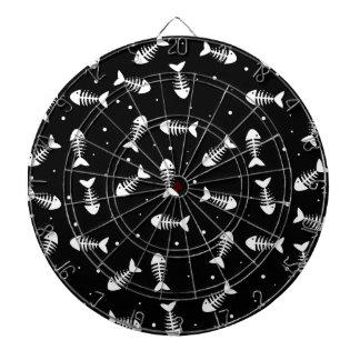 Fish bones pattern dartboard