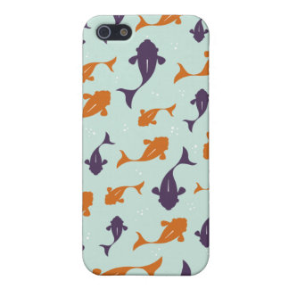 Fish Bowl   Aqua Orange Pattern Design Case For The iPhone 5