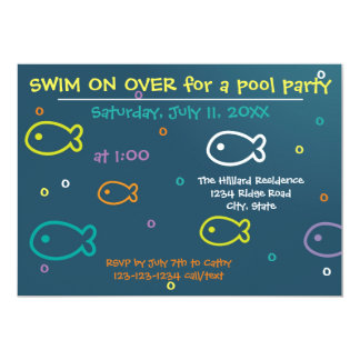 Fish & Bubbles - Pool Party Invitation