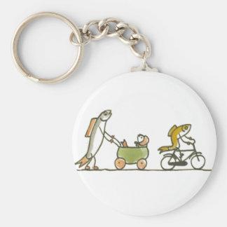 Fish Buggy and Bike Keychain