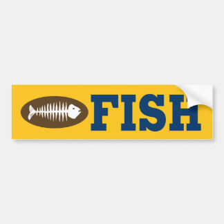 FISH CAR BUMPER STICKER