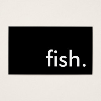 fish. business card