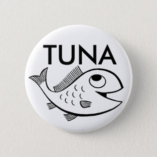 fish_-_cartoon_01, TUNA 2 Inch Round Button