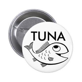 fish_-_cartoon_01, TUNA 2 Inch Round Button