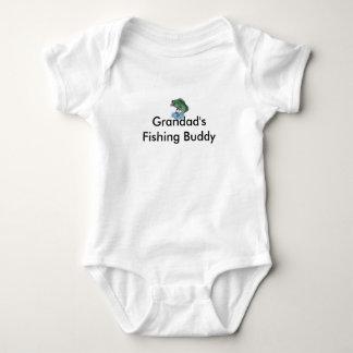 fish_cartoon, Grandad's Fishing Buddy Baby Bodysuit