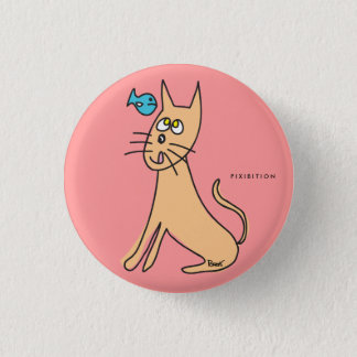 Fish & Cat Button