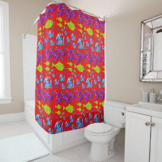 Fish childrens shower curtain