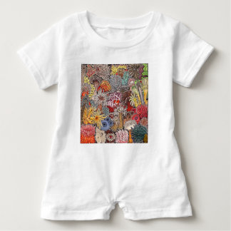 Fish clown and anemones baby romper