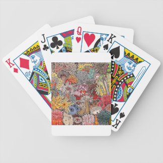 Fish clown and anemones bicycle playing cards