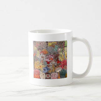 Fish clown and anemones coffee mug