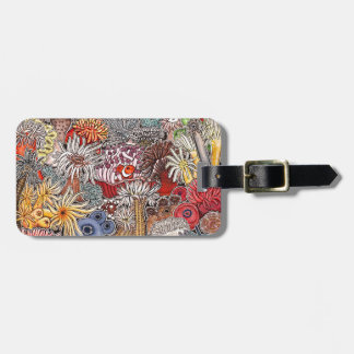 Fish clown and anemones luggage tag