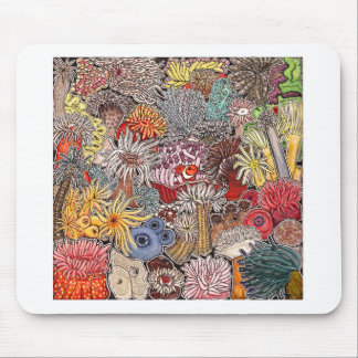 Fish clown and anemones mouse pad