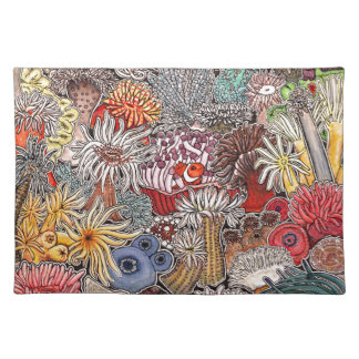 Fish clown and anemones placemat