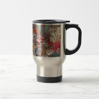 Fish clown and anemones travel mug