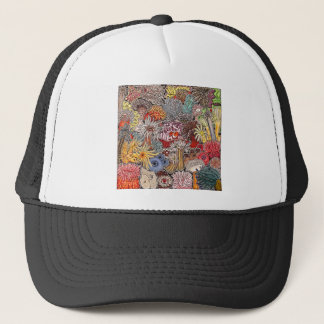 Fish clown and anemones trucker hat