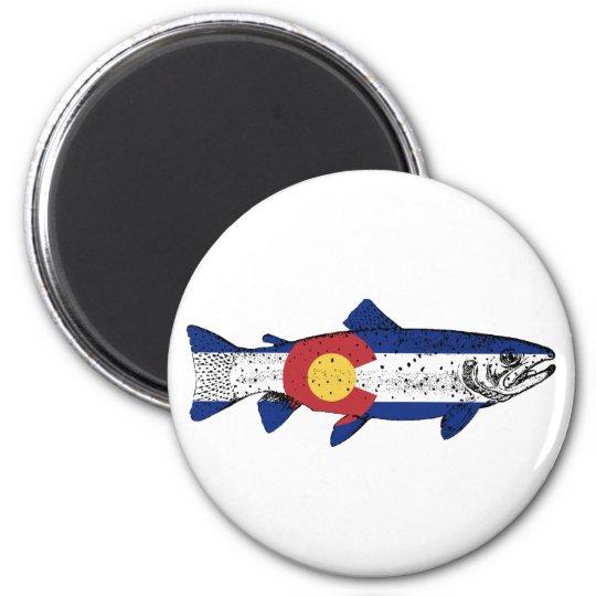 Fish Colorado 2 Inch Round Magnet