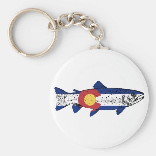 Fish Colorado Basic Round Button Keychain