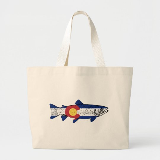 Fish Colorado Large Tote Bag