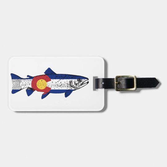 Fish Colorado Luggage Tag