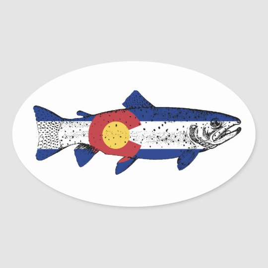 Fish Colorado Oval Sticker