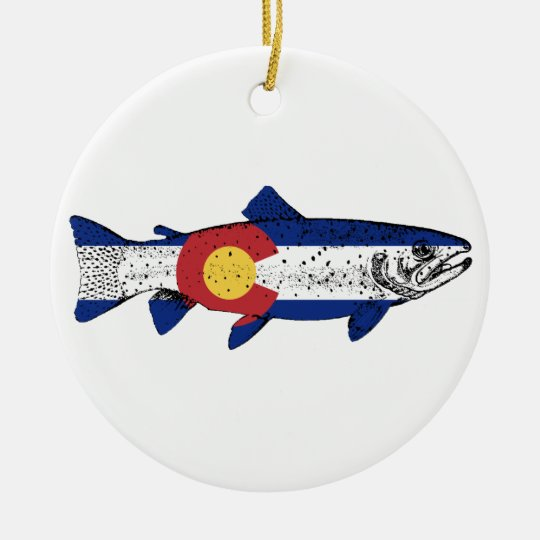 Fish Colorado Round Ceramic Ornament