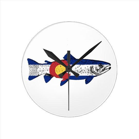 Fish Colorado Round Clock