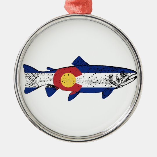 Fish Colorado Silver-Colored Round Ornament