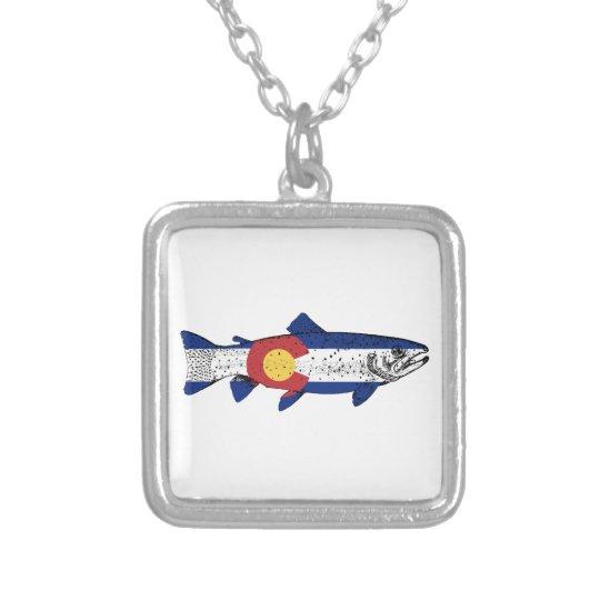 Fish Colorado Silver Plated Necklace