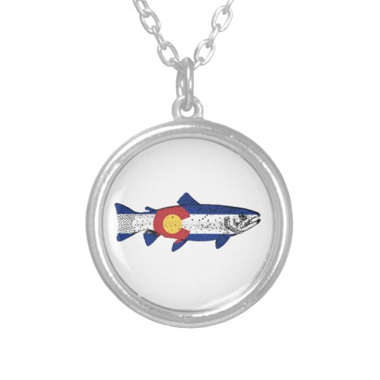 Fish Colorado Silver Plated Necklace