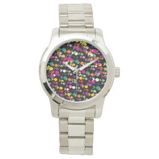 Fish Colorful Stylish Pattern Vibrant Modern Chic Watch