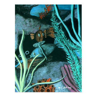 Fish Coral Reef Postcard