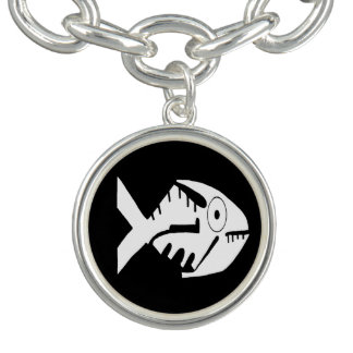 Fish Design, whorls and beads, Ecuador Bracelet