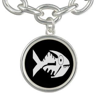 Fish Design, whorls and beads, Ecuador Charm Bracelets