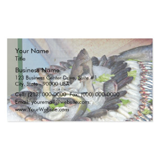 Fish displayed on Ice in Grocery store Pack Of Standard Business Cards