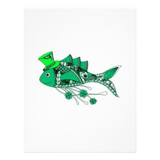 Fish Dressed for St Patrick's Day Letterhead