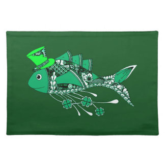 Fish Dressed for St Patrick's Day Placemat
